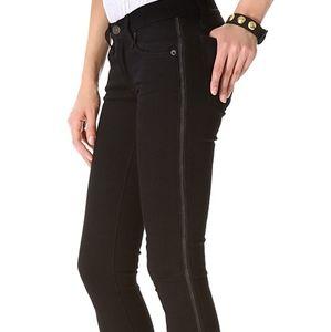 Rag & Bone black ( coal )jeans wiht side zipper